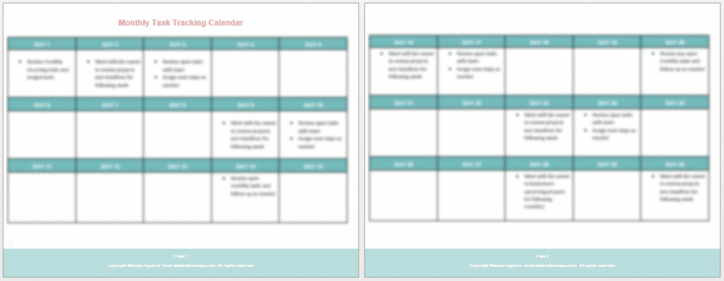 project management task tracking calendar