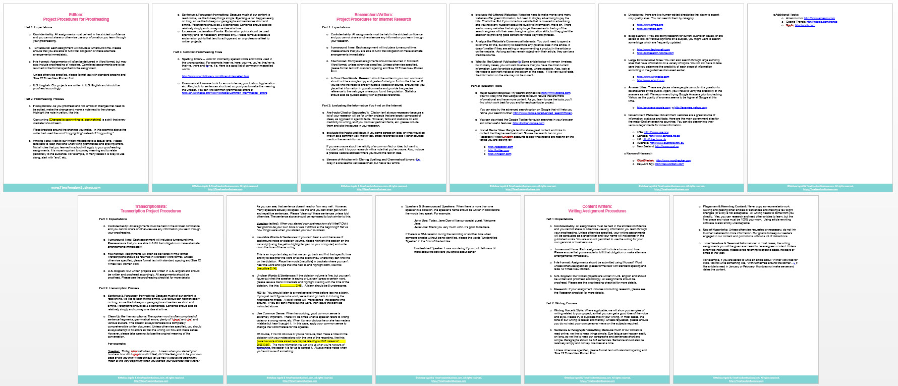 project-procedures-templates