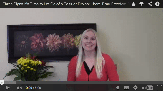 3 Signs it's Time to Let Go of a Task or Project