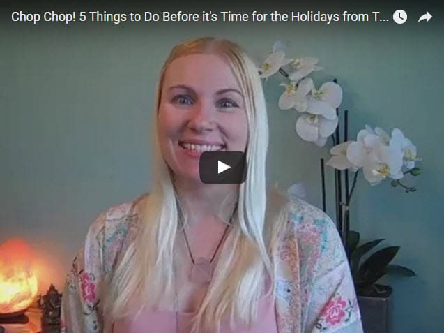 Chop Chop! 5 Things to Do Before it's Time for the Holidays