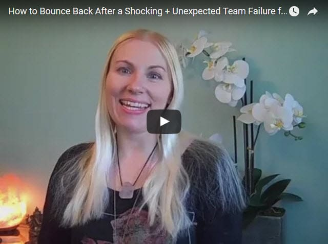 how to bounce back after a shocking and unexpected team failure